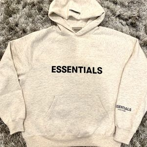 Fear of God Essentials Oatmeal Heather Hoodie S